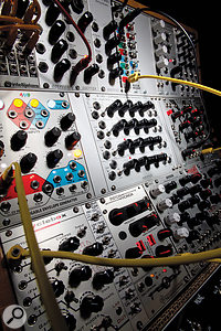 Eurorack synth modules.