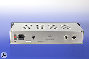 As well as the usual balanced I/O on XLRs, the Timbre features a  link facility, for using two units in stereo.