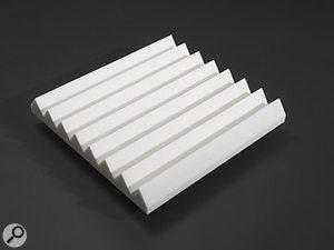 White acoustic foam tile.