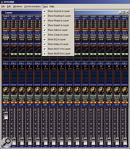 The Fader Layer window in Studio Manager v2.