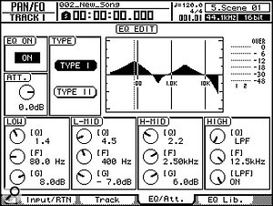 Separate screens (top to bottom) then provide detailed settings for the Gate, Compressor, and EQ.
