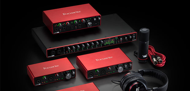 The new third-generation Focusrite Scarlett range.