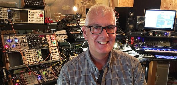 Steve Levine in his Liverpool studio, early 2020.