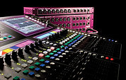 Allen & Heath GLD80 mixing desk.