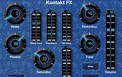 MIDI Designer Pro configured for Kontakt effects control.