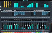 Steinberg Cubase Pro 9.5 mixer.