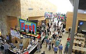 """GearFest visitors crowd around the """"DealZone"""""""