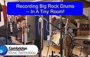 Recording Big Rock Drums In A Tiny Room!